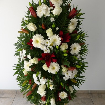 Centro de colgar de flor variada 1