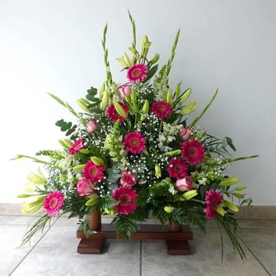 Centro de flor variada 1